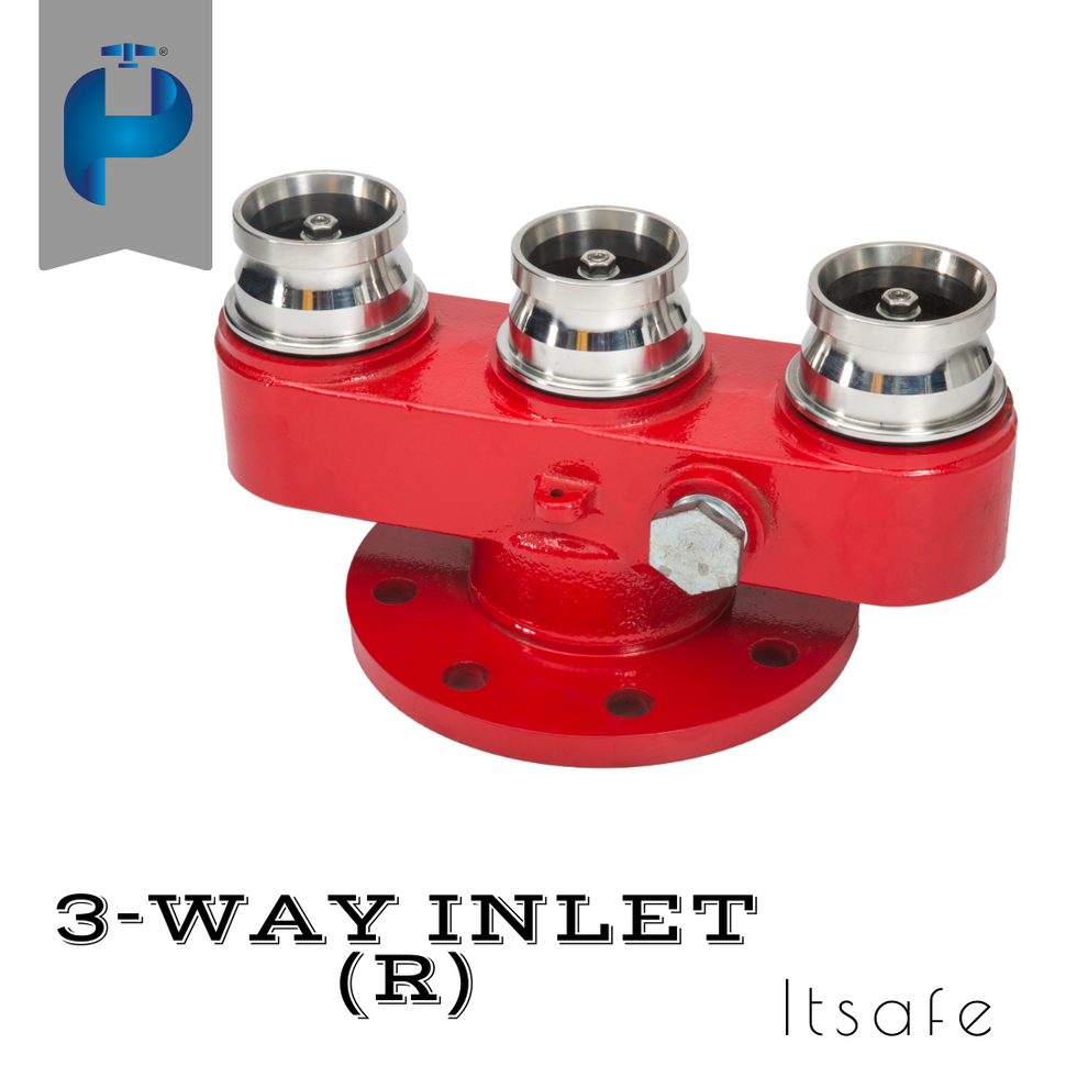 3 Way Fire Inlet - S.S