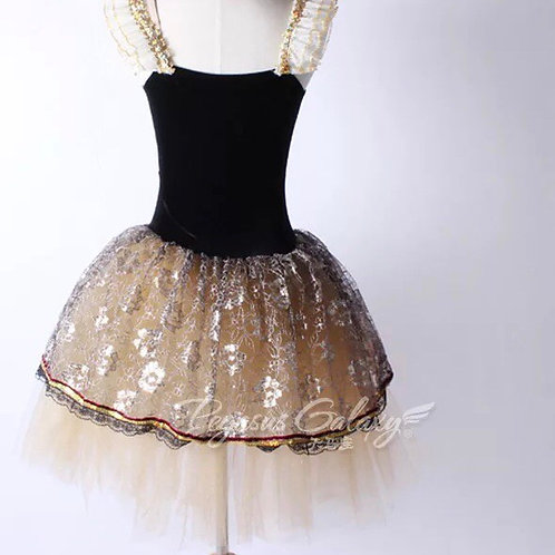 Gold country dance costume
