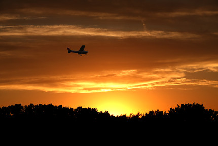 Airplane by the Sunset