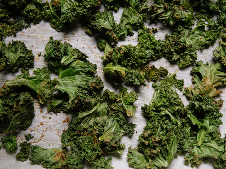 Ginger Crusted Kale Chips