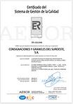 Certificado del Sistema de Gestión de l
