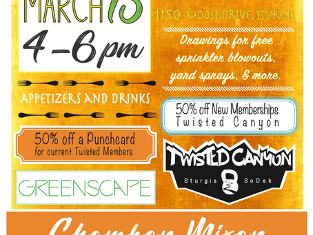 Twisted Canyon and Greenscape Chamber Mixer - this THURSDAY!
