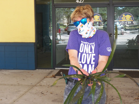 Commissioner Sheehan Helps Beautify CFLA Front Entrance