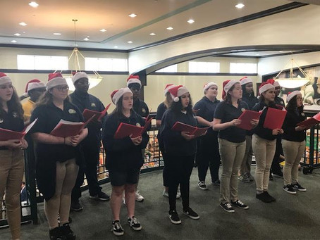 The CFLA High School Chorus Entertains Customers, Family and Friends at Barnes and Noble!