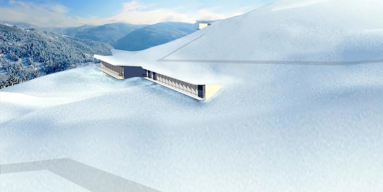 Remote Ski Lodge Concept