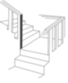 line drawing of a staircase