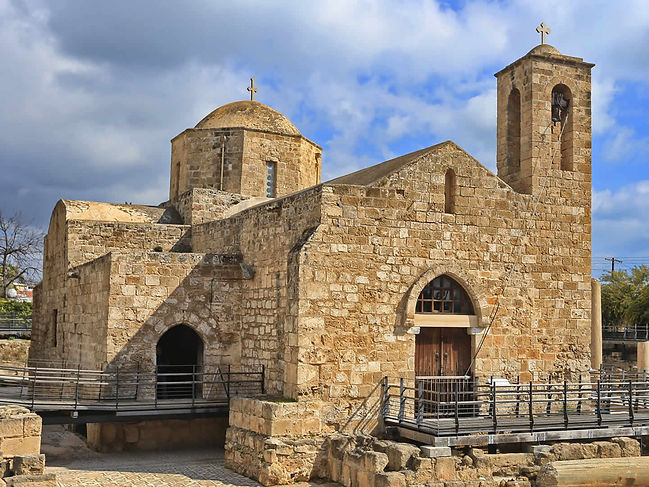 The Agia Kyriaki Chyrsopolitissa Church stands as a reminder of Roman and Byzantine occupation