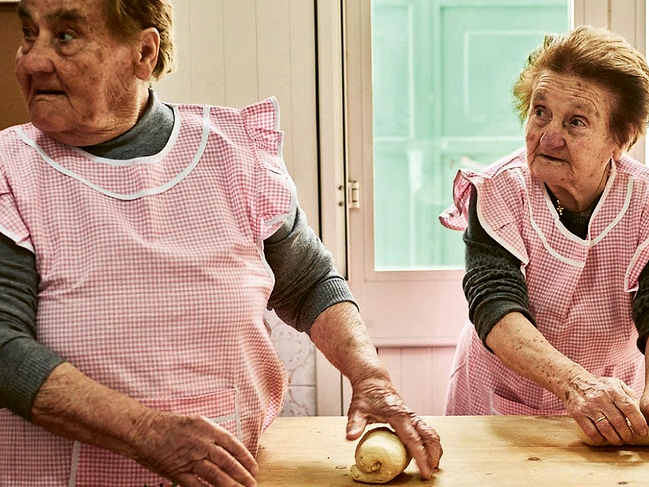 The nonnas in Puglia are so friendly and warm, and they make the BEST pasta rolled by hand