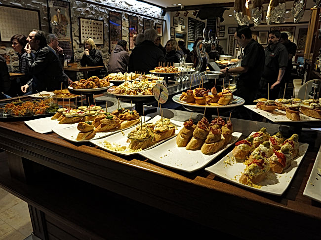 Pintxo in a Basque Country bar