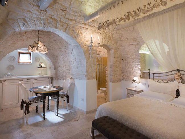 The inside of a trulli house