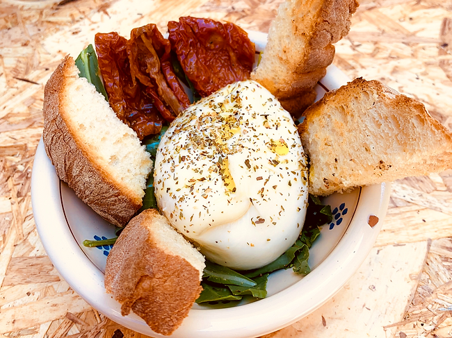 Burrata is a mouth-wateringly good cheese