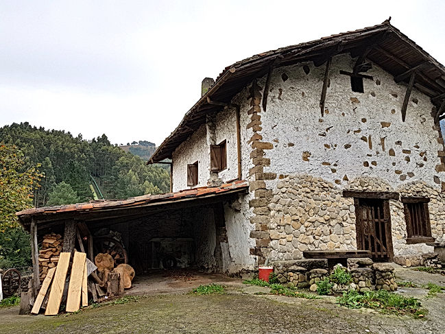A typical Basque farmhouse or Baserri