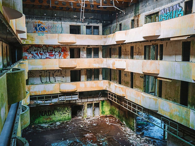 The abandoned Monte Palace Hotel - not very Azorean, but fascinating nonetheless