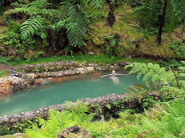 Bathe in the hot springs of Caldeira Velha for some serious Jurassic Park vibes