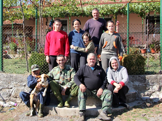 A typical Montenegrin family unit