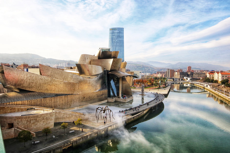 The world-famous Guggenheim Museum, set on the edge of the Nervión River