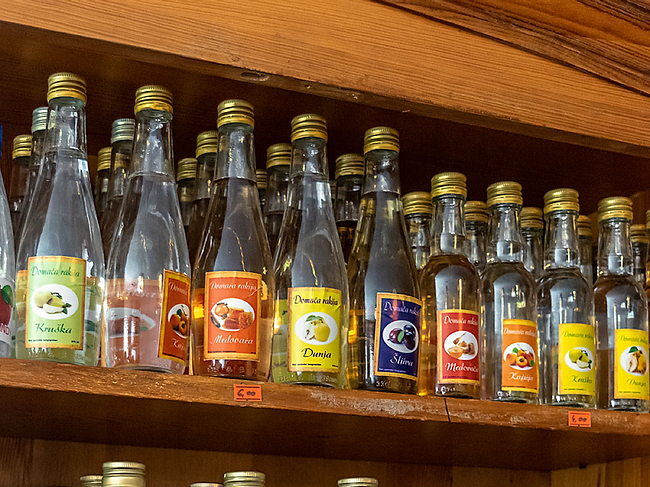 Rakija, a spirit made from all types of fruits, is a popular tipple in Montenegro