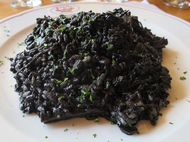 It's not the prettiest dish, but Crni Rižot is a seriously tasty black risotto made from squid ink