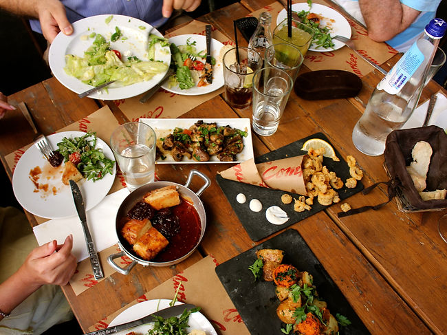 In Cyprus, it's common to share food from the same plate