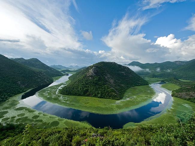 The Pavlova Strana viewpoint of a horseshoe bend in the Rijeka Crnojevica River