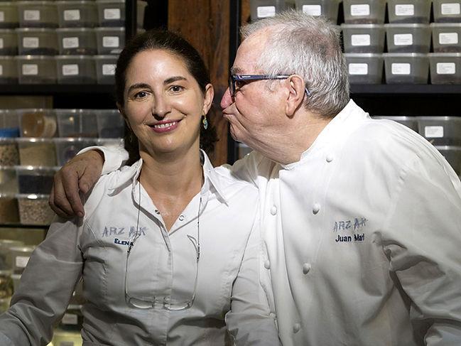Juan Mari and Elena, the father-daughter team of Arzak