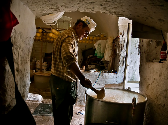 A cheesemaker perfects his ricotta in modern day Matera