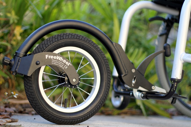 What a FreeWheel looks like when attached.