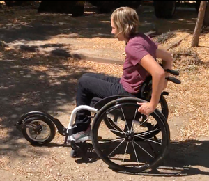 Nikeela trying her FreeWheel for the first time!