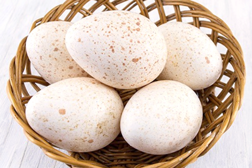 Free-Range Turkey Eggs (Half Dozen)
