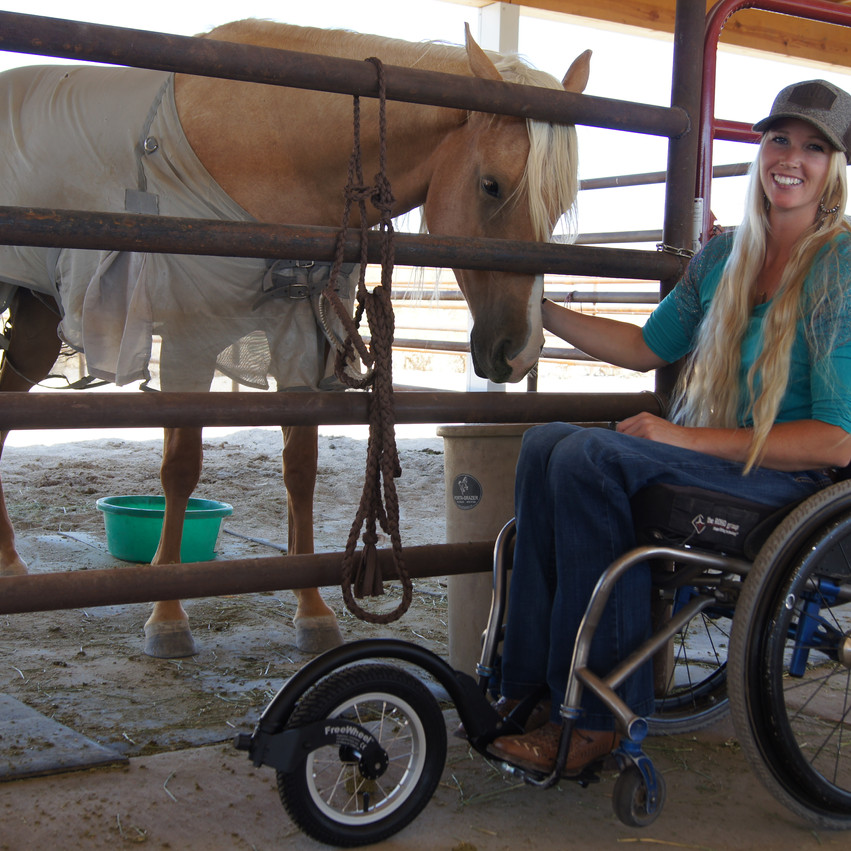 Amberley & her horse with FreeWheel