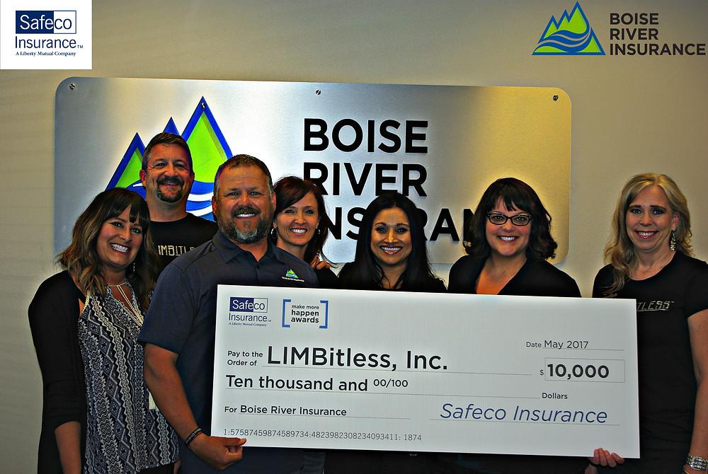 Limbitless Boise River Insurance Safeco Award