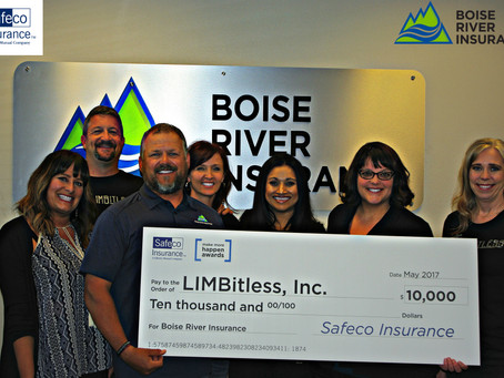 LIMBitless To Receive $10,000 Donation from Boise River Insurance Powered by Safeco Insurance® Make