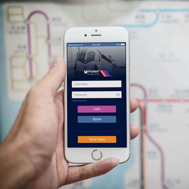 New Jersey Trainsit App Concept