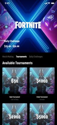 Dashboard Fortnite Tournament