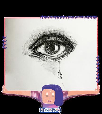 Martina Gazepova_Tear of Joy_Charocal on