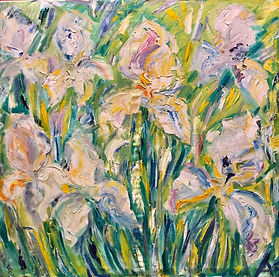 SAAS_Birshtein_Irises_Oil_Canvas_£3500.