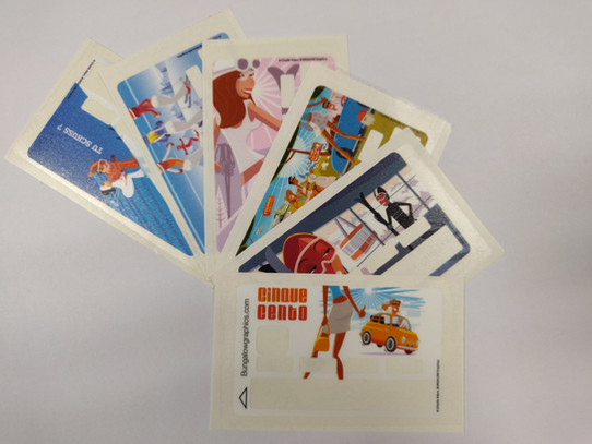 etiquette adhesive carte bleue personnalisables