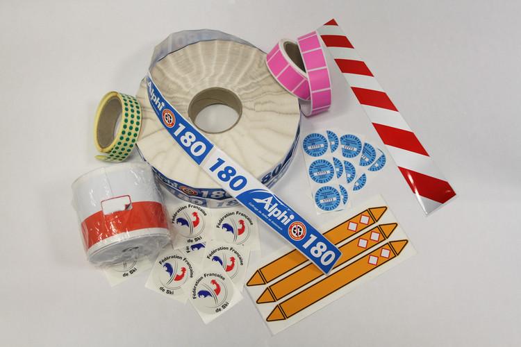 etiquette adhesive industrielle marketing