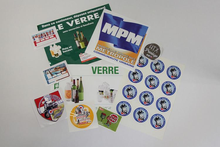 etiquettes marketing pub identification