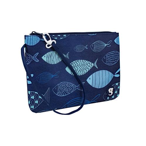 Swim / Small Utility Bags - Blue Fish