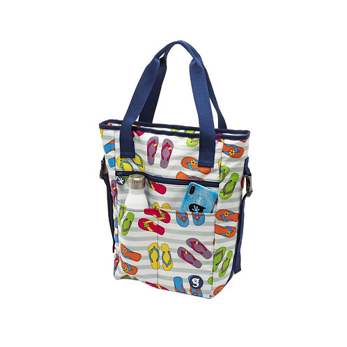 Convertible Tote & Backpack - Flip Flop Toss