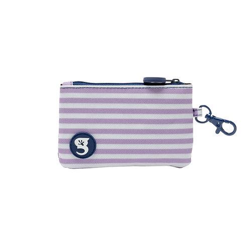 ID Case Wallet W/ Clip - Purple Stripe
