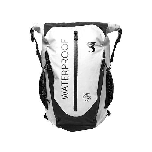 Paddler 45L Waterproof Backpack - White