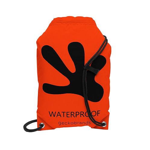 Drawstring Waterproof Backpack - Orange/Black