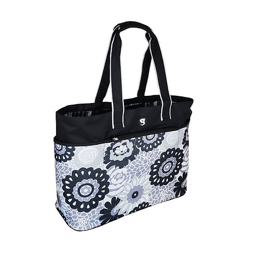 Oversized Beach Tote - Black/GreyFloral