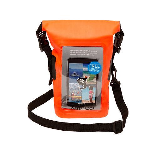 Waterproof Phone Tote - Neon Orange