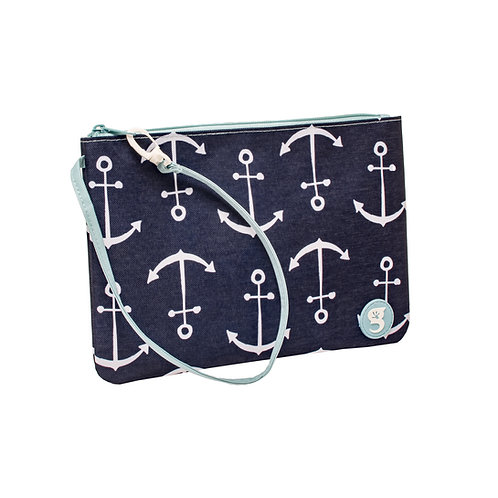 Swim / Small Utility Bags - Blue Large Anchor