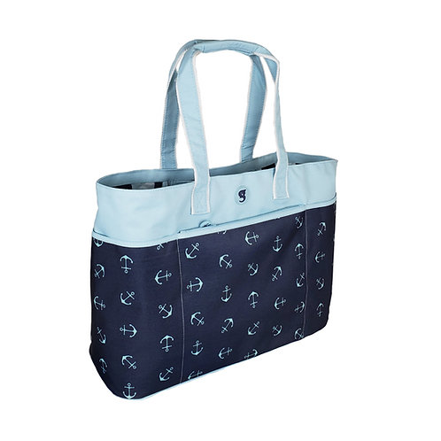 Oversized Beach Tote - Anchors