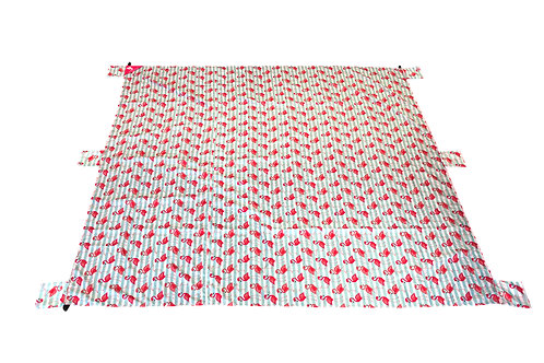 Lightweight Waterproof Blanket - Flamingo Stripe