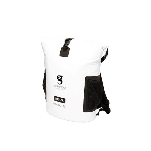 Backpack Dry Bag Cooler - White
